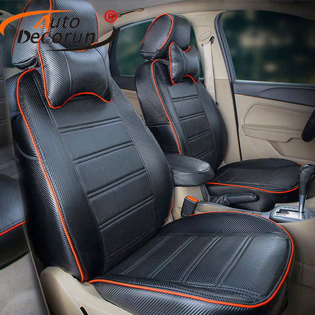 AutoDecorun Custom Fit Car Seat Cover Set For Toyota Prius 2012 Covers Cushion PU Leather