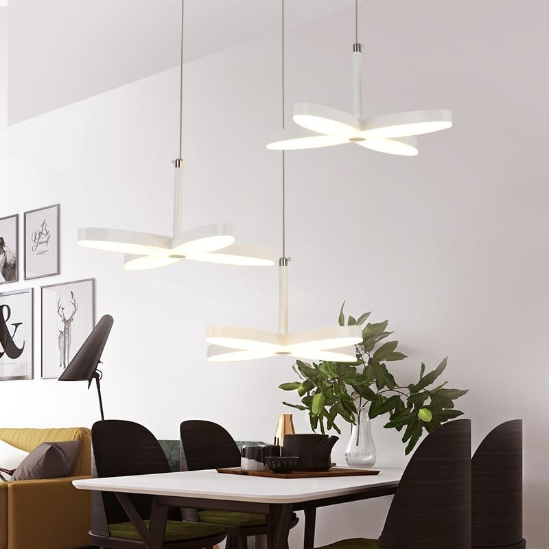 Creative Glass Stars Shape 45W Pendant Lights Modern Gold Crystal Lamps Dining Room Ligh ...