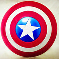 O Capitão Vingadores 32 CM América Escudo-Emissor de Luz & Som propriedade Cosplay Brinquedo Metálico escudo Vermelho/Azul