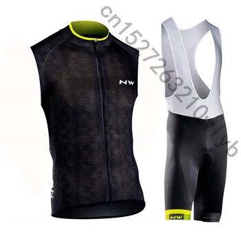 NW велосипедные жилеты Набор Лето MTB Одежда для велопрогулок, дышащая без рукавов для велоспорта Ropa Maillot Ciclismo велосипедная футболка одежда