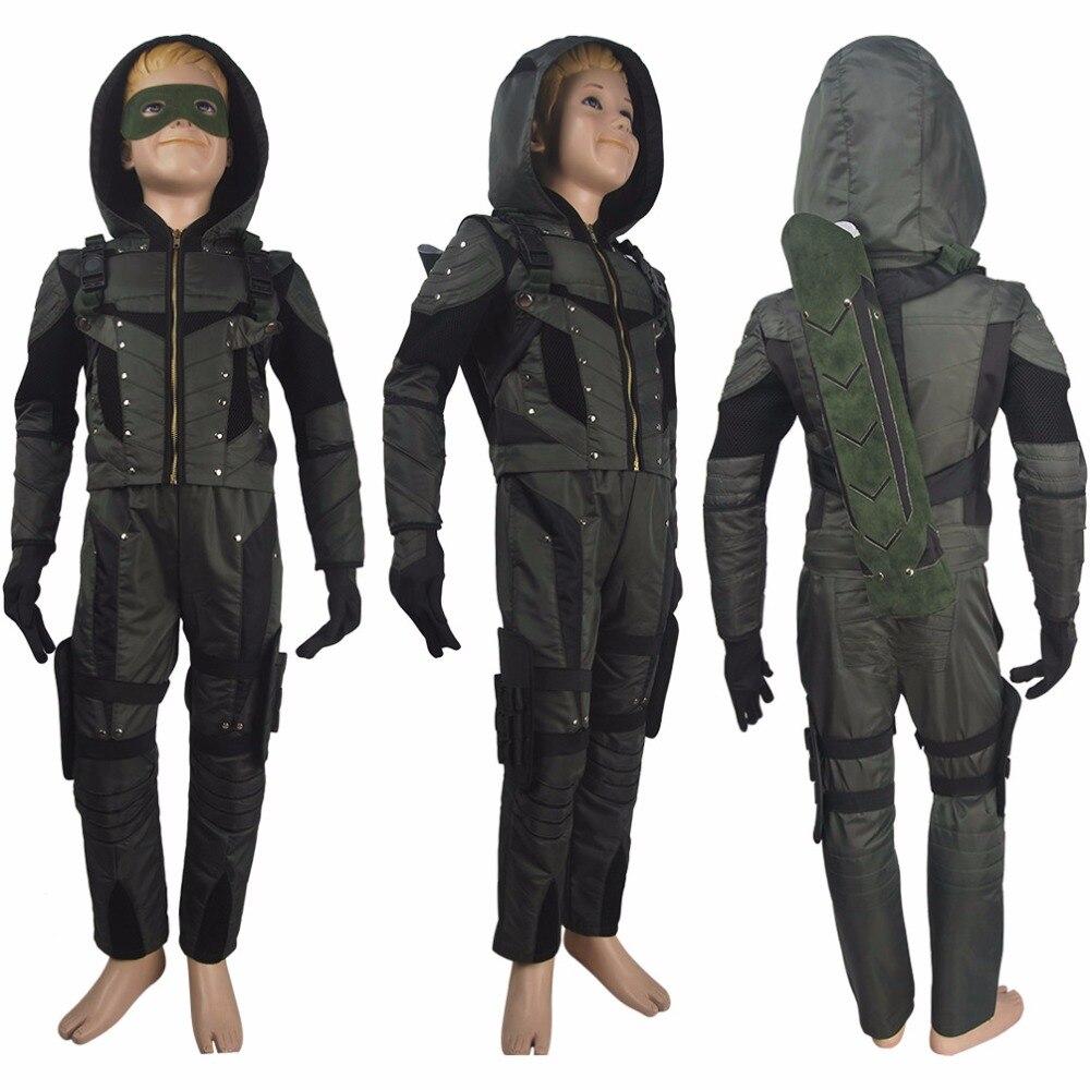 Enfants garçons flèche (série TV) saison 6 Oliver reine cosplay halloween costume de luxe super-héros tenue de noël cadeau anime bande dessinée-con