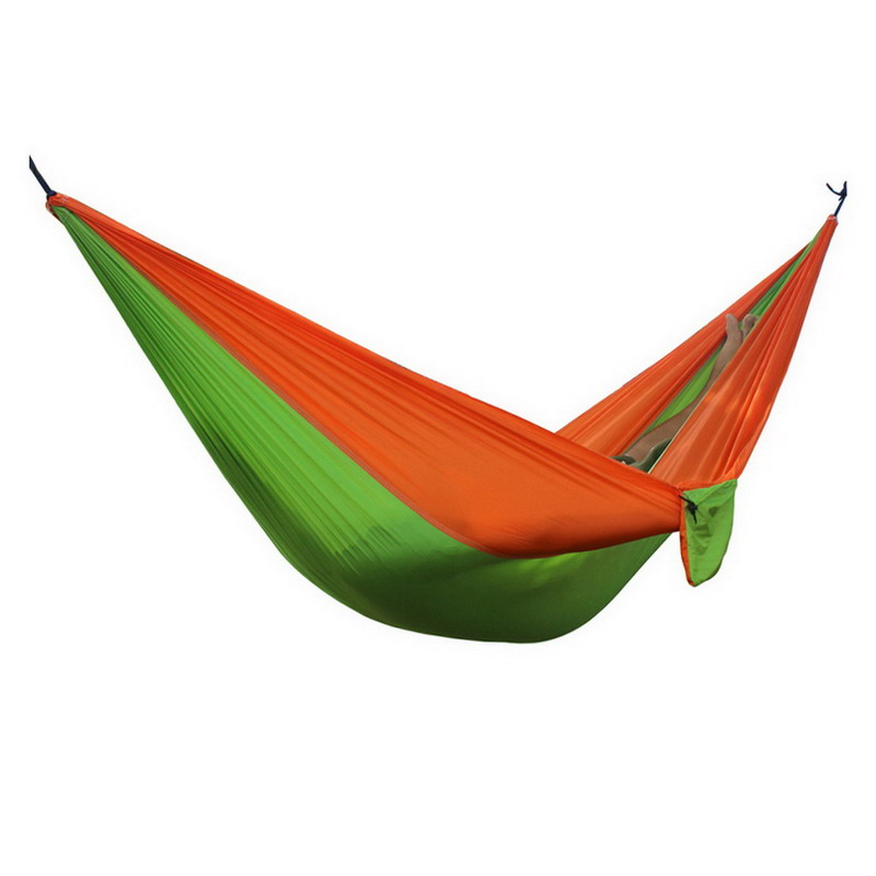 1pc 2016 New Portable 24colors 2 people Parachute Nylon Fabric Travel Camping Hammock Outdoor Camping Furniture hammock 300 200cm 210t nylon outdoor furniture 2 people portable parachute hammock camping survival garden flyknit hunting hamac