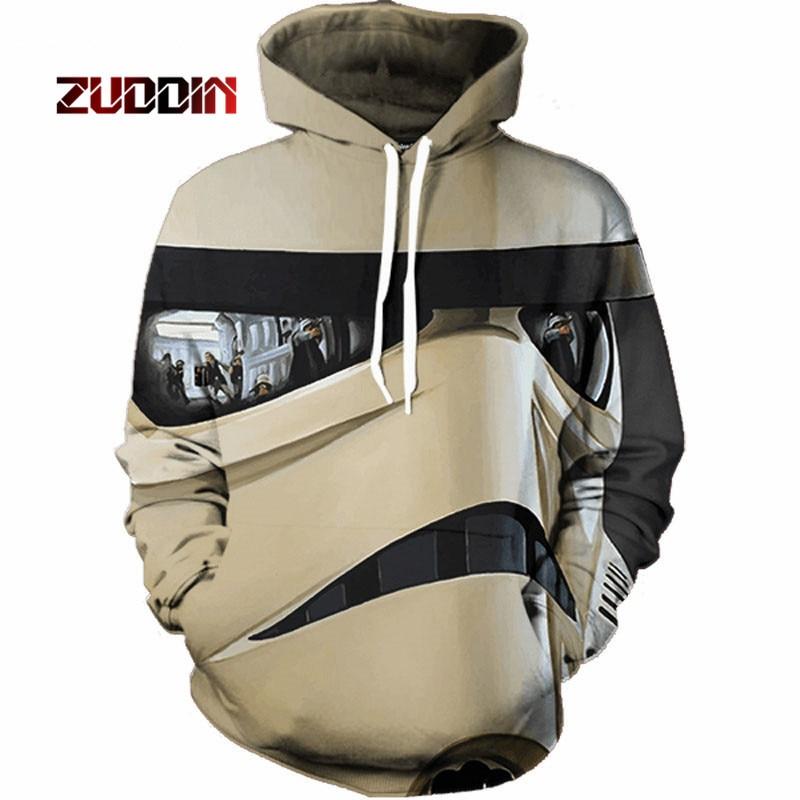 Dropshipping2018 New Star Wars 3D Sweatshirt Sweatshirt Game/Movie Superhero Punk Hoodies Mens Outfit Autumn Winter Jacket