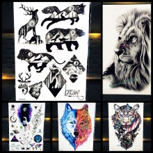 0e64d86c0a0bd Cool Bear Beast King Waterproof Temporary Tattoo Indian Lion Warrior Fake  Flash Men Tattoo Sticker 21x15CM Women Henna Tatoo