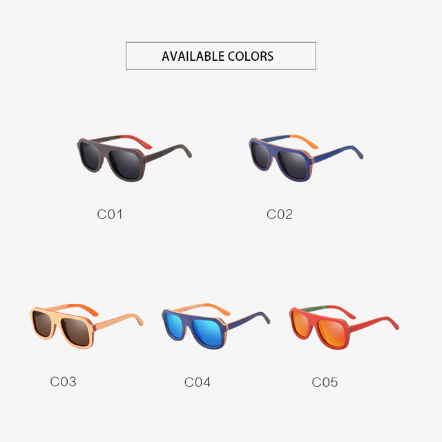 AOFLY BRAND DESIGN Men Sunglasses Bamboo Sunglasses Handmade Wooden Frame Polarized Mirror Lens Classic Gafas de sol UV400 AF618 4