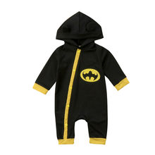High Quality New Fashion Children Hoodies Long Sleeve Cotton Hooded Zipper Hooded Clothes Classic Cosplay Romper Jumpsuit(China)