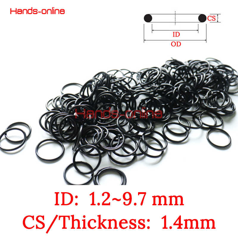 10x NBR ID 1.2 1.7 1.8 2.17 2.5 2.8 3.2 4.2 5.2 5.7 6 6.7 6.8 7 7.55 7.8 8 8.2 9 9.7 mm x 1.4mm O-ring Kit O rings Rubber Gasket