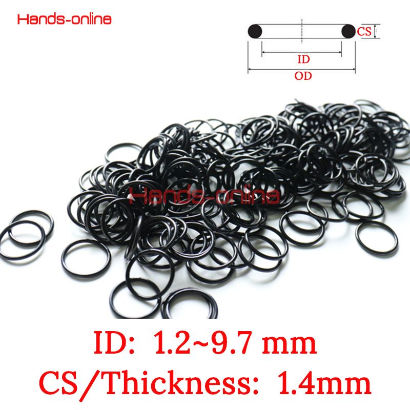 10x NBR ID 1.2 1.7 1.8 2.17 2.5 2.8 3.2 4.2 5.2 5.7 6 6.7 6.8 7 7.55 7.8 8 8.2 9 9.7 mm x 1.4mm O-ring Kit O rings Rubber Gasket 10pcs lot 9x5x2 mm o rings rubber sealing o ring 9mm od x 2mm cs