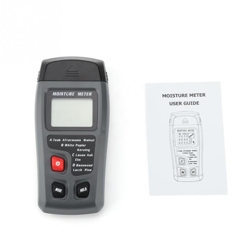 1 Set  Digital LCD Wood Moisture Tester Humidity Meter Timber Damp Detector Wood working Measuring Tools hygrometer higrometro