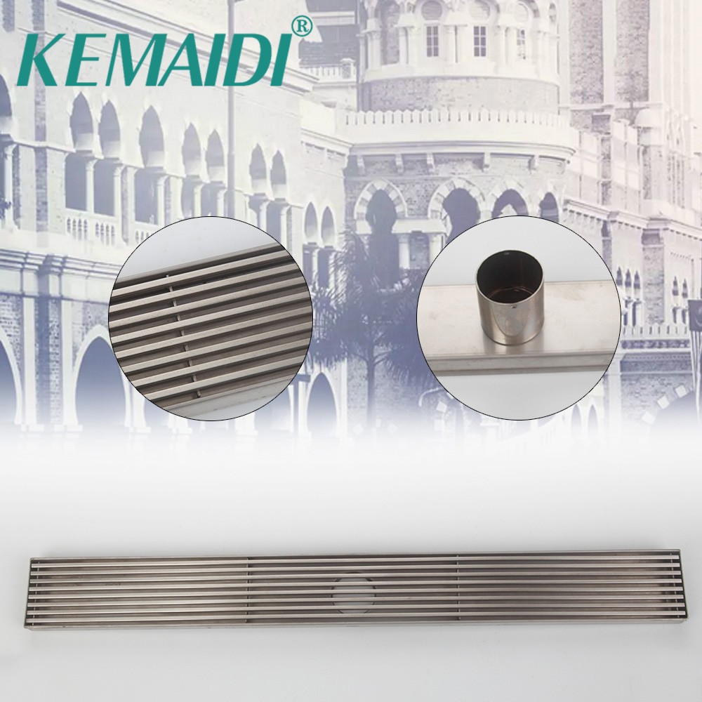 KEMAIDI Stainless Steel Brass Bathroom Shower Drain Floor Drain Trap Waste Grate Grid Strainer Waste Drain square deodorant floor waste drain strainer oil rubbed bronze 10cm floor cover sink grate bath accessories free shippinghj 8711r