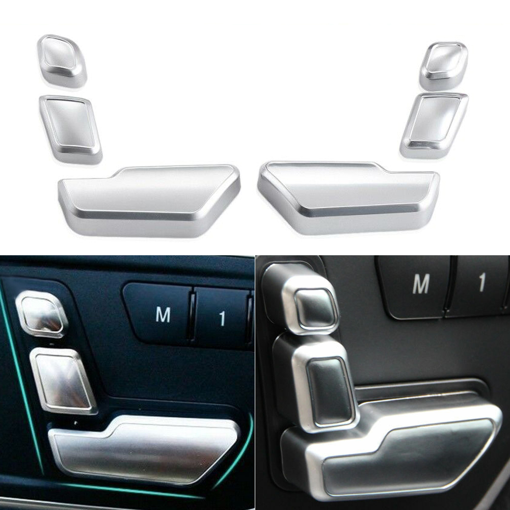 Car Styling Door Seat Adjust Switch Button Cover Trim Sticker For Mercedes Benz E Class W212 GLK ML GL CLS SLK Car Accessories