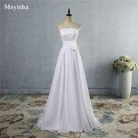9067 Custom Made White Ivory Chiffon Sweetheart Bride Dresses Wedding Big Skirt Beach Wedding Maxi Formal