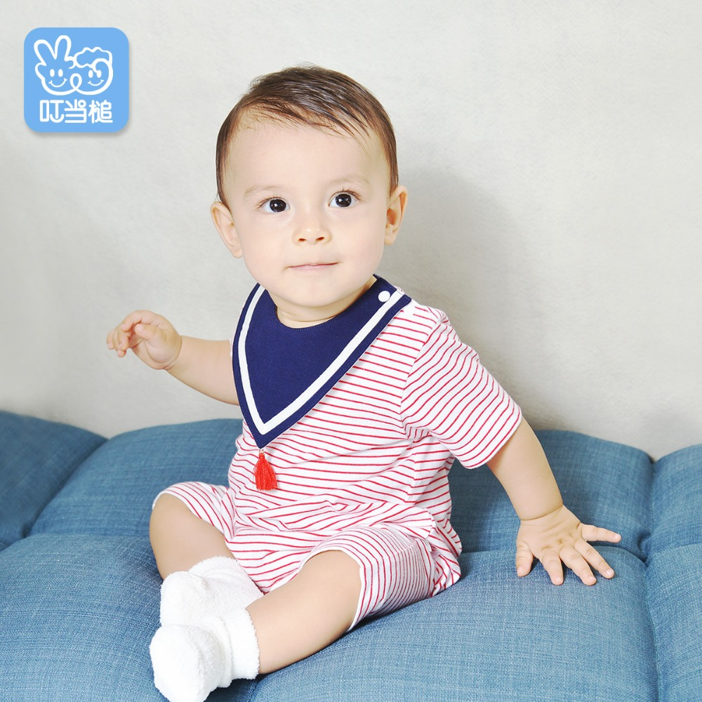 Dinstry 2018 New baby rompers Naval style baby jumpsuit new born baby clothes Unisex Dinstry 2018 New baby rompers Naval style baby jumpsuit new born baby clothes Unisex