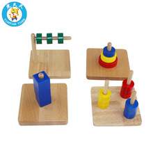 Montessori Baby Early Education Wooden Toys Preschool Training Infant Toddler Discs On Dowel