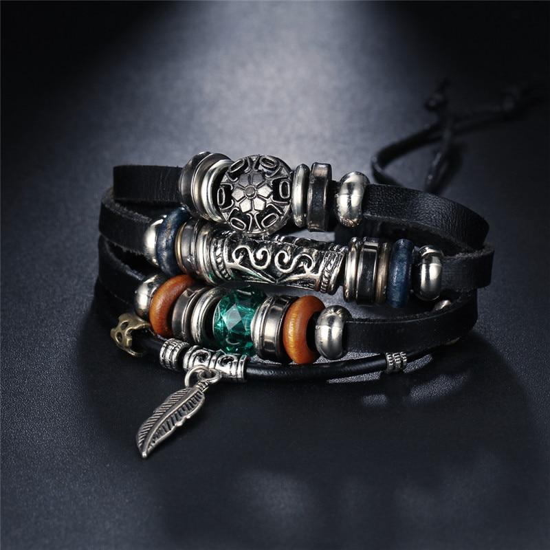 Turkish Eye Leather Bracelet for Men
