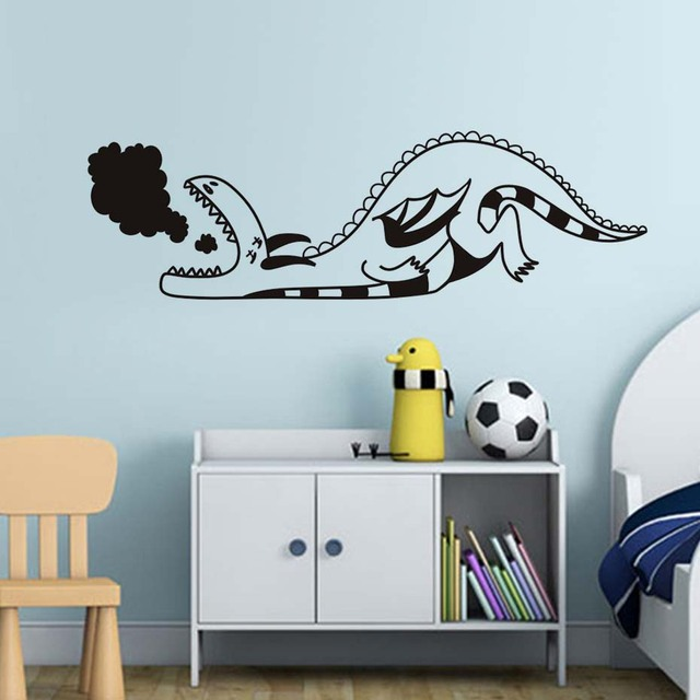 cartoon baby dragon wall sticker for kids rooms wall decor