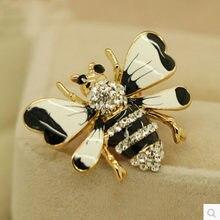Esmalte strass animal besouro/abelha/abelha/abeille/coruja pequeno pin broche/broches/brosche/novo 2018 coreano elegante de jóias por atacado