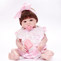 Reborn Bebe Alive Bonecas Handmade Lifelike Reborn Baby Doll Full Body Vinyl Silicone with Pacifier Gift Toys for Girl