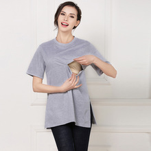 hot summer Breast Feeding Tops Tees Maternity Nursing Clothes Pregnant Women Breastfeeding T-shirt Maxi Premama Wear Clothing