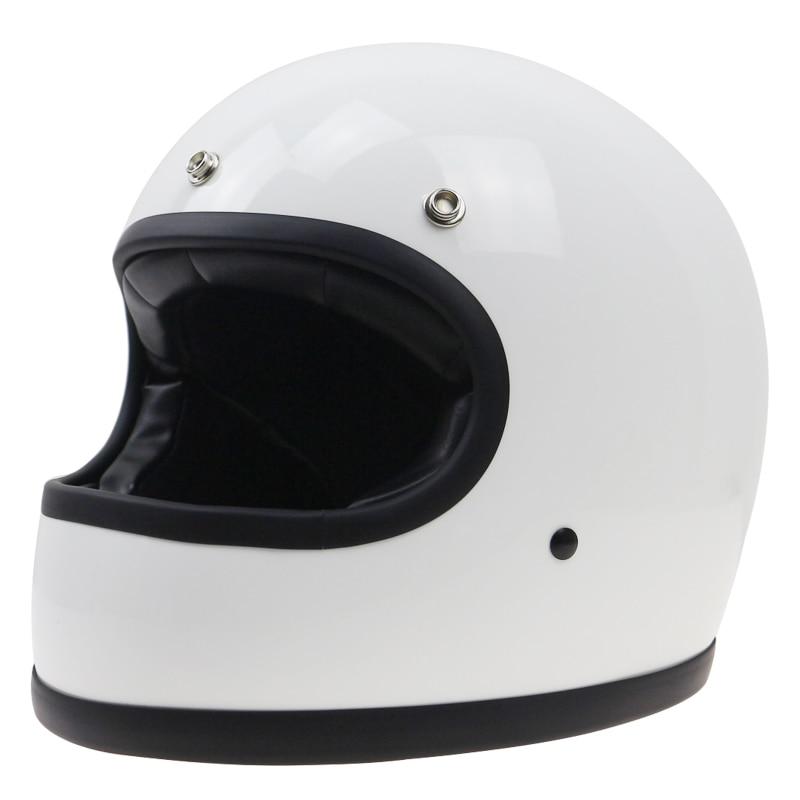 Vintage helmet Simple structure designed full face motorbike helmet racing helmet DOT approved safety bike gear Classic design vintage aviation safety helmet random color