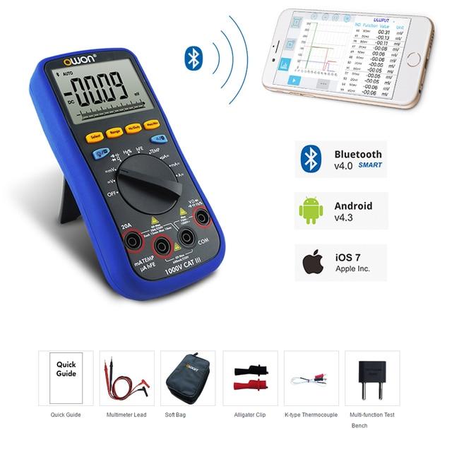 US $65 26 |Lilliput OWON large LCD B35 Multimeter Bluetooth mobile app  download datalogger + Digital Multimeter offline recording function-in  Monitor