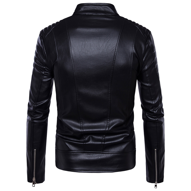 Aowofs 2018 Long Leather Blazer Men Black Suit Jacket England Style Blazer Masculino Casual Striped Pu Leather Overcoat Autumn To Have A Long Historical Standing Men's Clothing