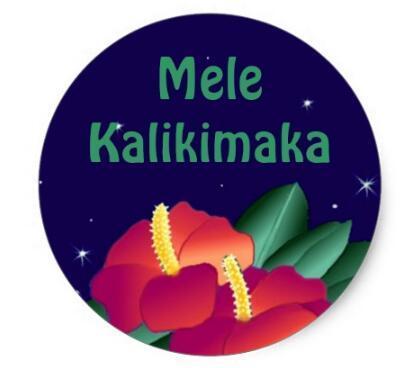 1 5 polegadas adesivo havaiano feliz natal kalikimaka