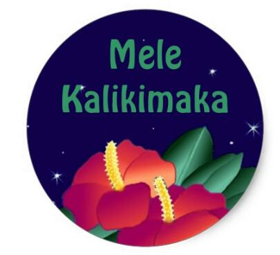 Merry Christmas In Hawaiian.Us 20 0 1 5inch Sticker Hawaiian Merry Christmas Mele Kalikimaka In Stationery Stickers From Office School Supplies On Aliexpress Com Alibaba