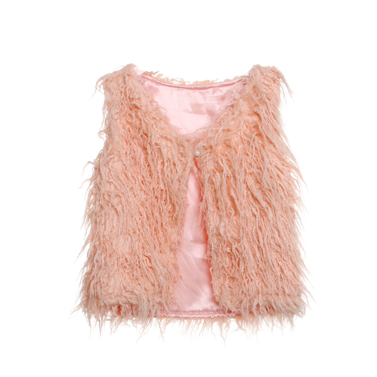 Toddler Kid Baby Girl Faux Fur Tops Vest Warm Coat -9242