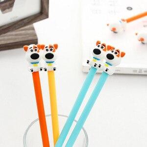Image 2 - 36 шт./лот Kawaii серии собачьи гелевые ручки 0,5 мм канцелярские забавные ручки школьные Escolar Canetas офисные материалы школьные принадлежности детский подарок
