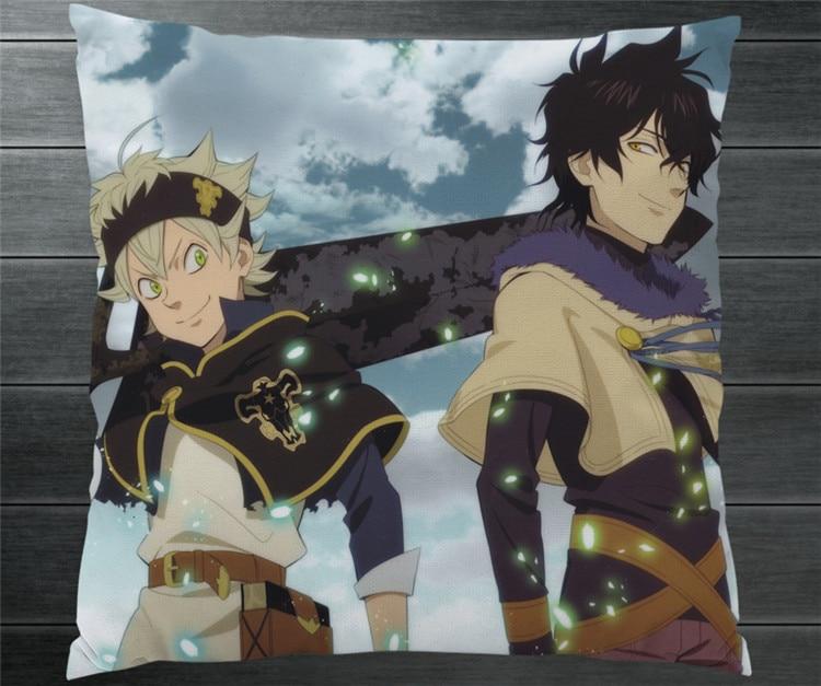 Anime Manga Black Clover Asta Yuno Fan Art Hd Twee Side 40*40 Cm Kussensloop Kussen Case Cover Cosplay Gift Bed/bank/auto Decor Nieuwe Een Plus Een Gratis