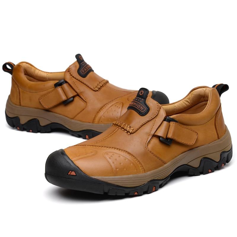 Homens Casuais Split Brown Novos Size Flats Qualidade Vmuksan Mocassins 2019 Black Brown Sapatos Mens Couro yellow 46 Dos Plus red 38 Confortável q4BfStF