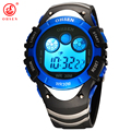 Ohsen relógios de marca crianças esportes crianças da faixa de borracha 7 cores azul 30 m à prova d' água relógio de pulso de moda semana dia meninos digitais relógio
