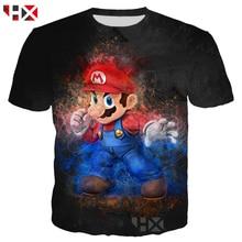 7f0c4d84d HX 2019 Novos Jogos De Vídeo Super Mario Bros 3D Impressão T Camisa Camisola