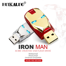 usb flash drive 32gb Iron Man metal pen drive 16gb 8gb memory stick usb flash disk lighted pendrive memoria stick