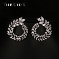 Luxury Clear Zirconia Jewelry New Fashion Cubic Zirconia Stud Earrings Crystal Brand Earings For Women Boucle
