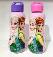 1pcs 300ml Disney princess Cartoon baby water cup leak-proof bottle Mickey Frozen Elsa Rope kettle boy girl children day gift(China)