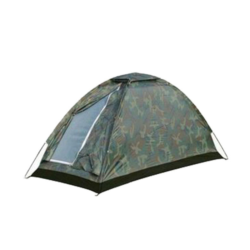 Single Layer 3 Seasons Camping Tent Outdoor Travel Waterproof Camouflage Tent Portable Mosquito Net Camping Tents for One People none pole portable a shaped camping tent mosquito net total yarn net tent ultra light outdoor equipment camping supplies
