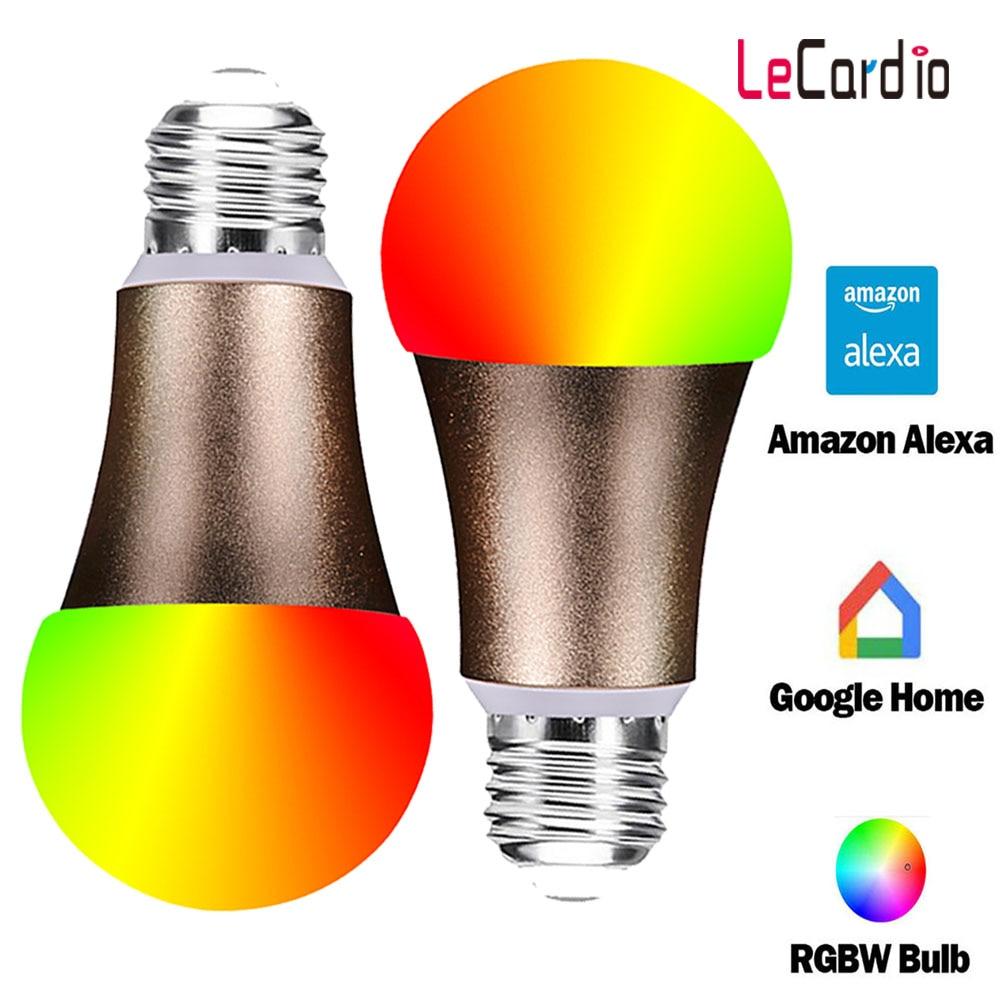 2PC LED Spaarlampen E26 Smart Wifi Gloeilamp Voor Familie Party Slaapkamer Woonkamer Smart Home decor Verlichting Lamp-in LED Lampen & Buizen van Licht & verlichting op lecardio Official Store