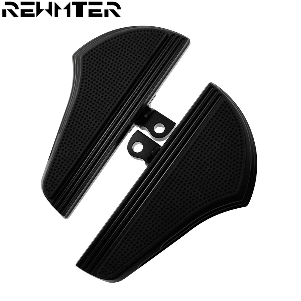 Motorcycle CNC Male Mount Foot Pegs Passenger Defiance Floorboards Black for Harley Sportster XL Touring FLHX