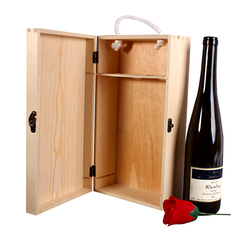 Online get cheap custom wooden wine boxes for Timber wine box