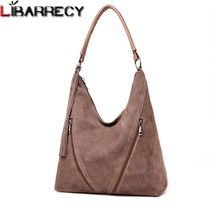 Fashion Split Leather Women Handbags Quality Suede Shoulder Bag Female Simple Crossbody Bags For Designer Top-handle