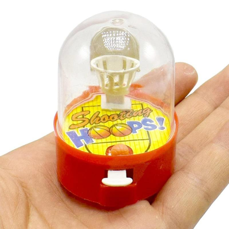 Mini Handheld Palm Basketball Shooting Toys Finger Machine Desktop Games Kids Toys Training Interest Toys Gifts Gadget Random