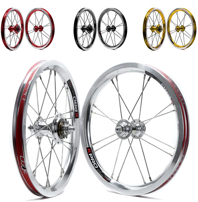 Ultralight 776g 14inch Folding Bike Wheels BMX Wheelset Bike Bicycle Wheelset for BYA412 BMX Parts ldcnc wheel set bya412 upgrade wheels set folding bike 14 inch lightest wheels lighter than mialo wheels