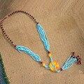 Tibet Nepal jóias étnicas colar cera D-18