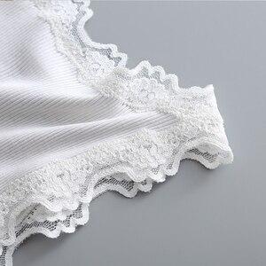 Image 3 - Cotton+ Nature Silk Ladies Fashion Lace Stitching Vest Slim Sexy Elegant Camisoles High Elastic Bottoming Female Tanks