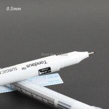 0.5MMx 5pcs Disposable Waterproof Skin Munsu Positioning Marker Pens Sterilized Permanent Makeup With Ruler