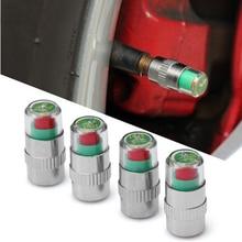 4pcs Car Tire Air Pressure Valve Stem Caps Sensor Indicator