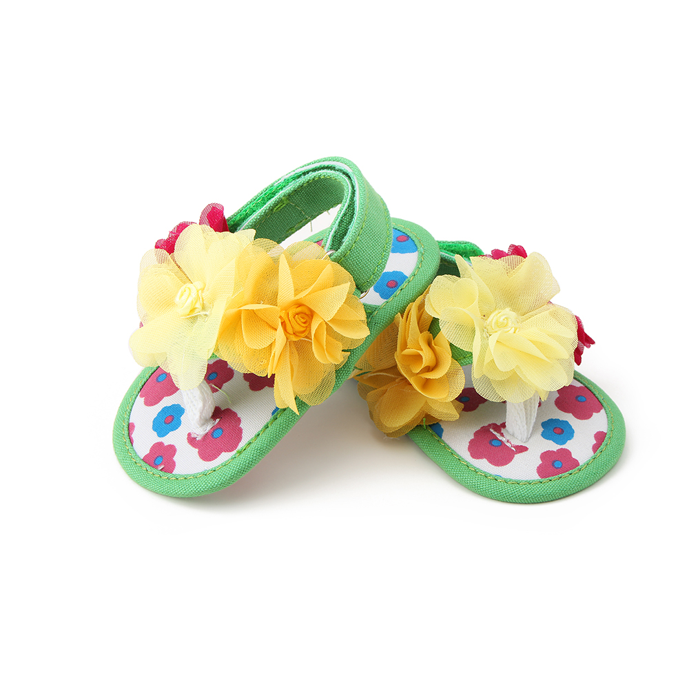 2017 New Summer Infant Baby Girl Prewalkers Flowers Baby Shoes Soft Bottom Shoes First Walkers 0-18M