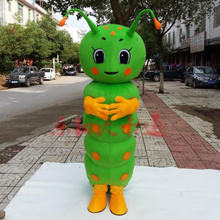 Green Carpenterworm Mascot Costume Cartoon Character Mascotte Adult Apparel Halloween Fancy Dress Christmas Cosplay Outfit extraterrestrial alien mascot costume halloween christmas carnival fancy costume cosplay mascotte apparel